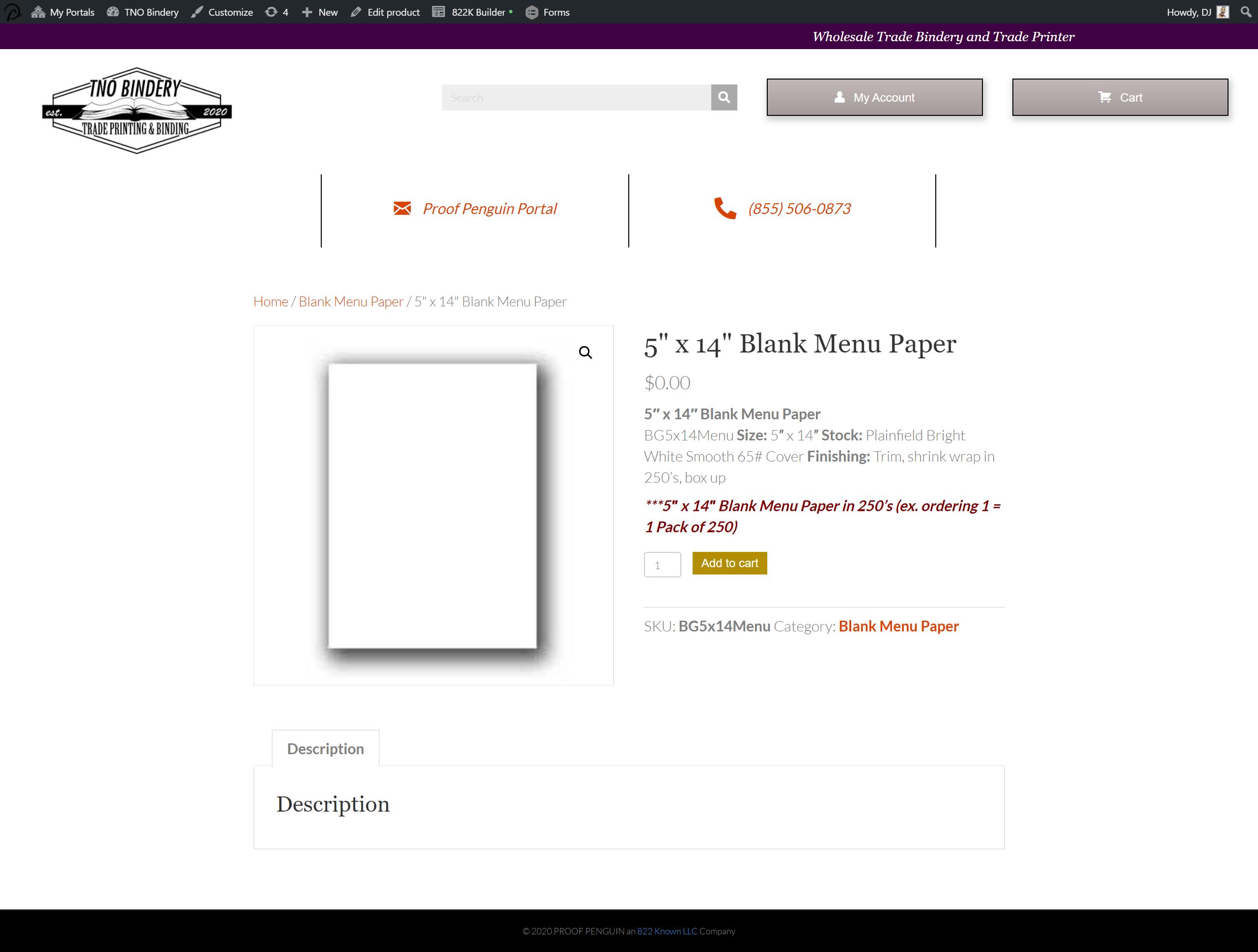 Printer-customer-inventory-order-system-demo-menu-paper