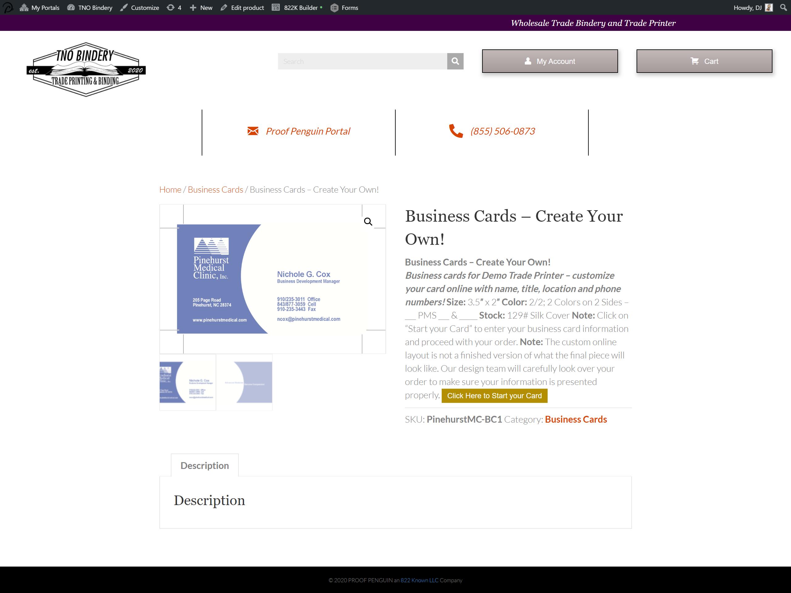 Printer-customer-inventory-order-system-demo-business-card